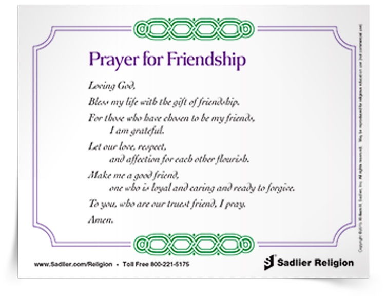 Prayer for friendship prayer card sadlier religion prayer for friendship prayer card friendshippryrcrdthumb750px thecheapjerseys Gallery
