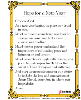 Hope for a New Year Prayer | Sadlier Religion