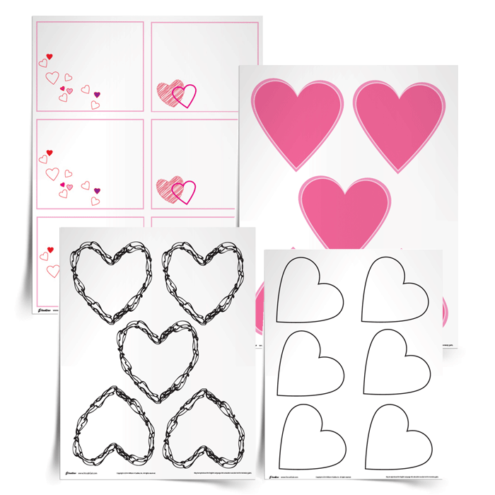 Help students review and recall vocabulary words with the Valentines to Vocabulary Template.