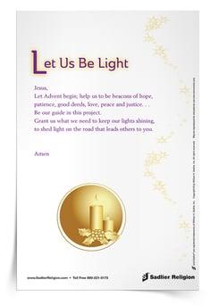 Let Us Be Light Prayer Card