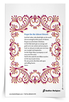 Prayer for the Advent Wreath Prayer Card