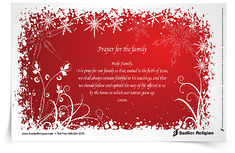 Prayer for the Family Prayer Card