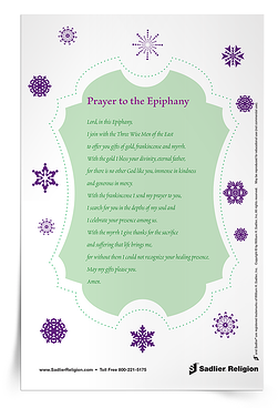 Download the Prayer for Epiphany Prayer Card and share it with your family or class.