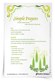 Simple Prayers Prayer Card