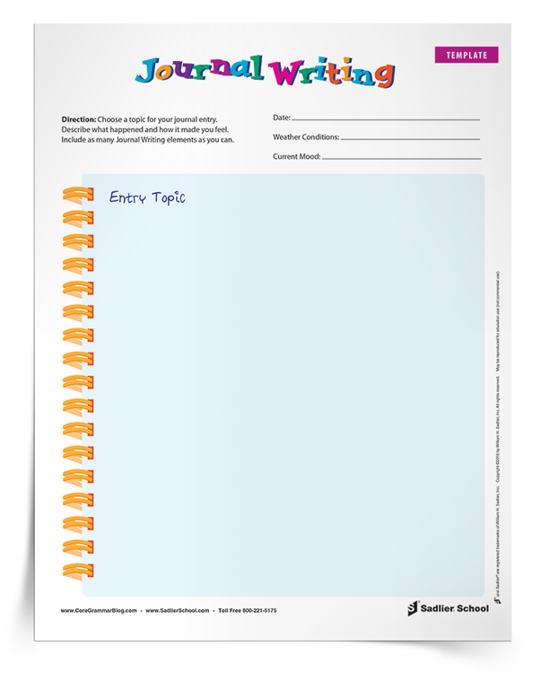 journal-writing-template