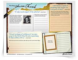 The Diary Of Anne Frank Worksheet Grades 4 8