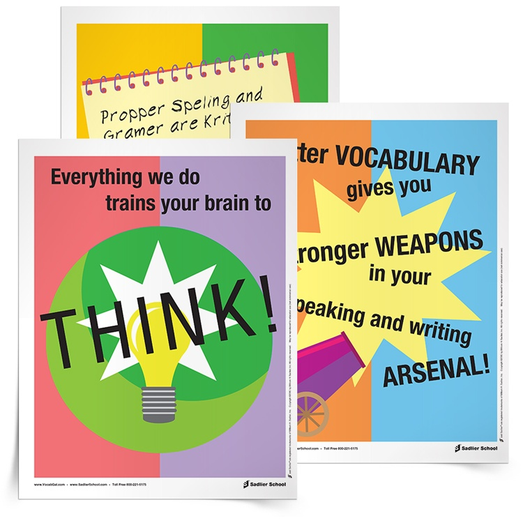 Download three inspirational posters for the English Language Arts classroom.