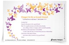 Prayer To Be A Good Friend Prayer Card Sadlier Religion