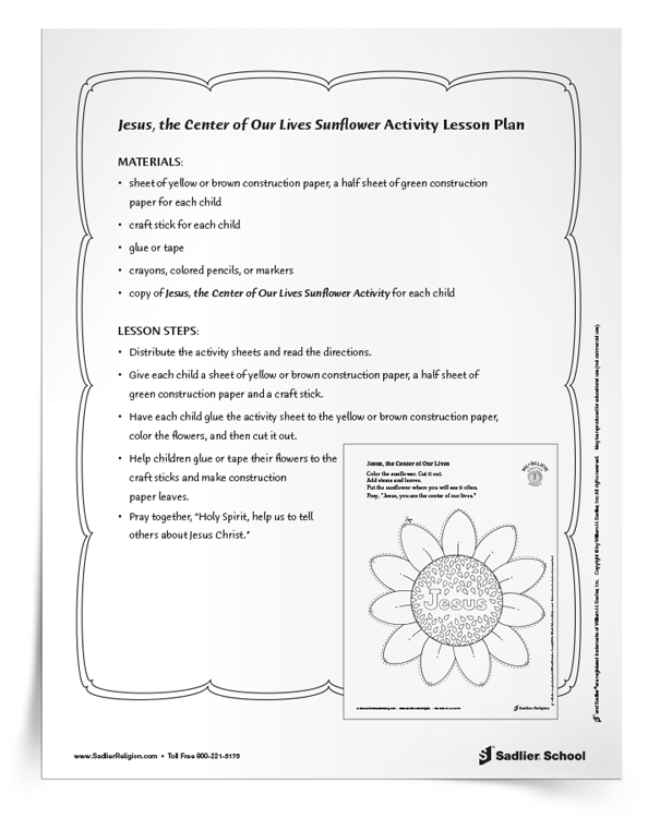 Jesus-the-Center-of-Our- Lives-Sunflower-Activity