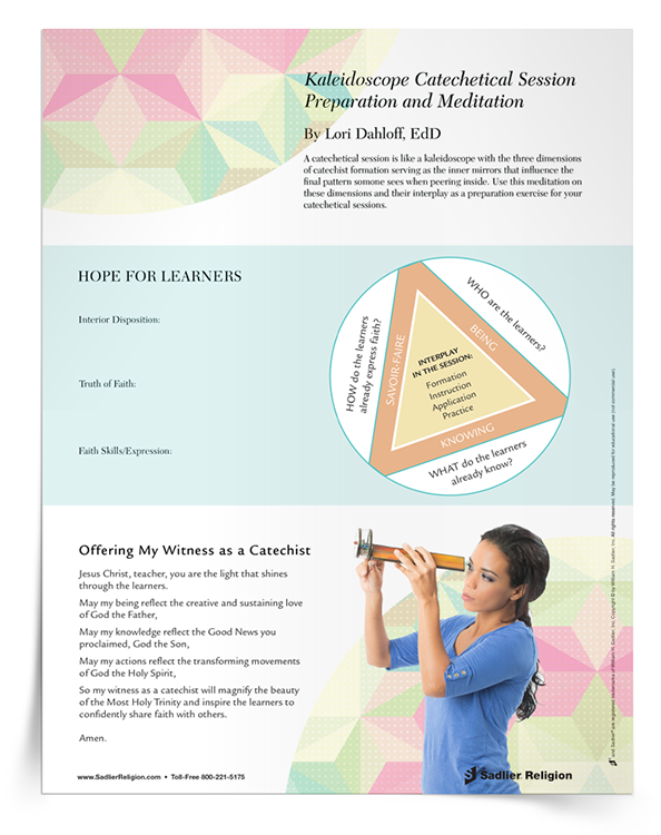 use the kaleidoscope meditation to prepare for catechetical sessions