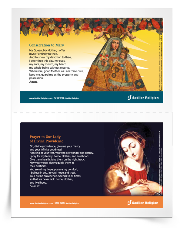 Marian Devotions Prayer Cards