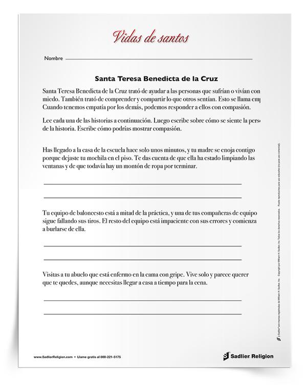 Actividad-Santa-Teresa-Benedicta-de-la-Cruz