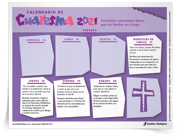 Calendario de Cuaresma 2021