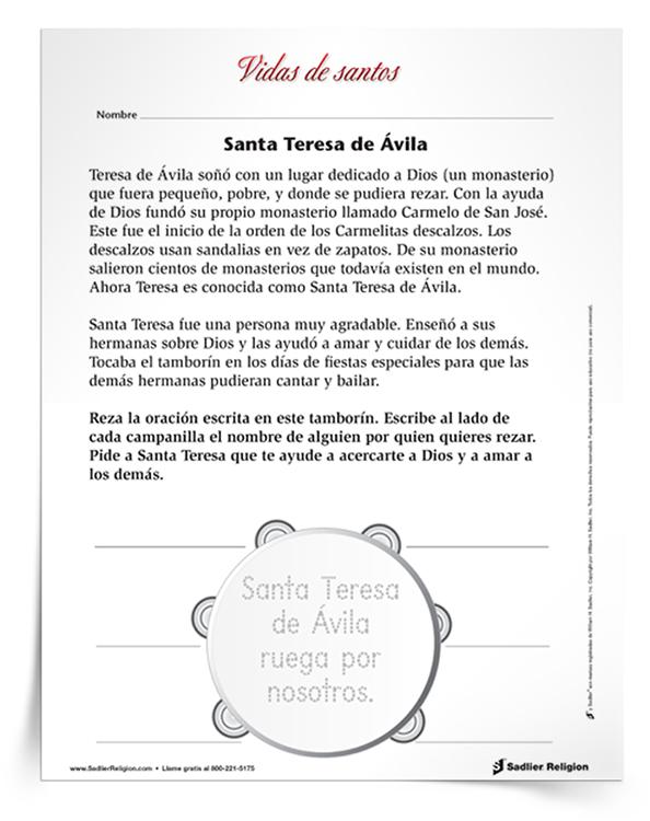 Actividad-principal-de-Santa-Teresa-de-Ávila