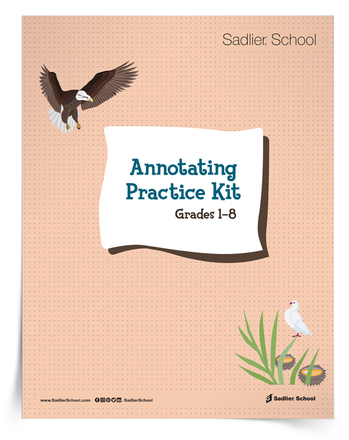 Use the worksheets and text excerpts in the Annotating Practice Kit to get students annotating with a purpose.