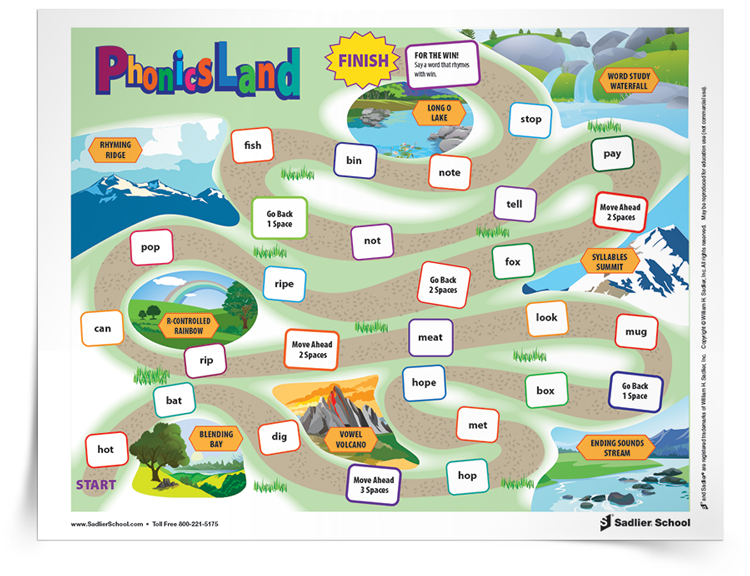 Phonics Land, similar to Hasbro® Candyland™, is a captivating game that's guaranteed to get students excited about practicing their decoding skills!