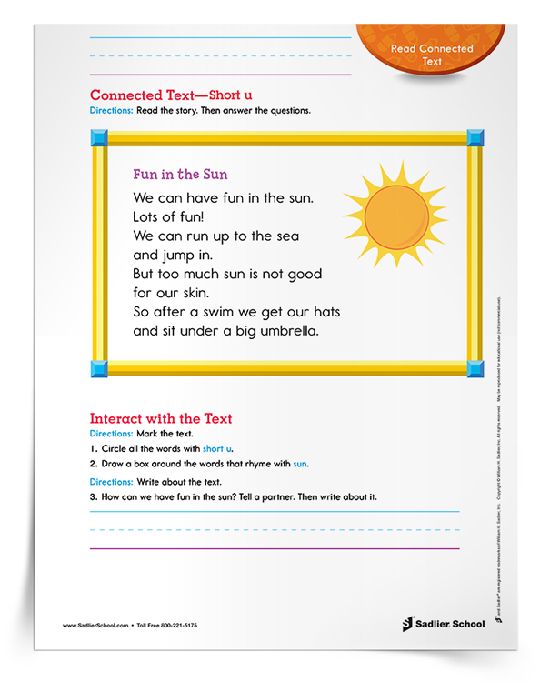 Connected-Text—Short-u-Activity-download