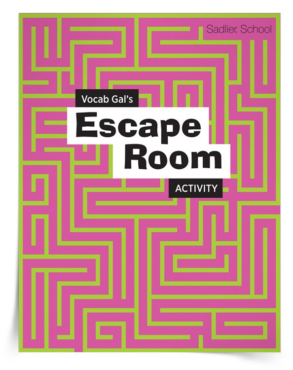 With Vocab Gal's Escape Room Activity you'll get everything you need to set up an Escape Room activity for students to learn literacy skills, such as building their vocabularies in a fun and novel way.