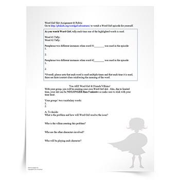 Vocabulary-Activity-Word-Girl-Skits