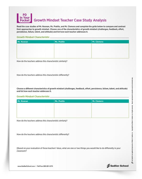 Download the Growth Mindset Math Teacher Case Study Analysis now.