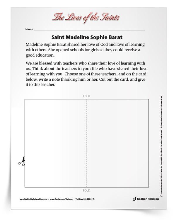 Saint-Madeline-Sophie-Barat-Activity